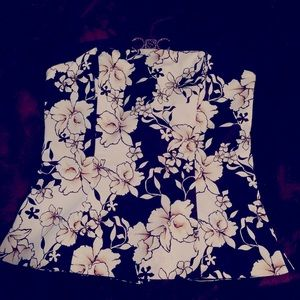 WHBM floral bustier